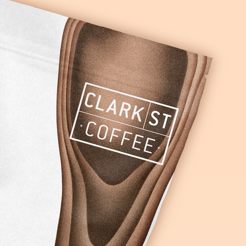 Clark St Coffee brand and packaging