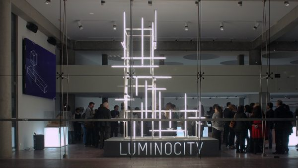UNSW Luminocity Exhibition 2015 L light sculpture