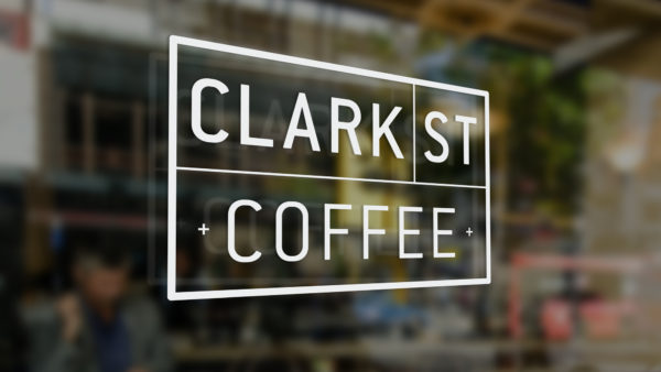 Clark St Coffee signage