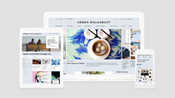 Urban Walkabout Responsive Publishing Platform | Equilibrium Design