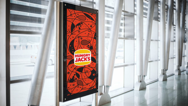 Hungry Jack's airport panels