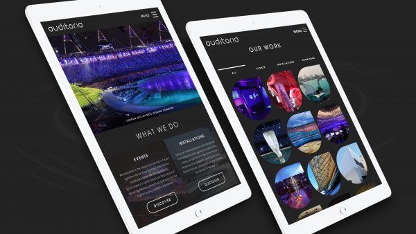 Auditoria website | Responsive Tablet