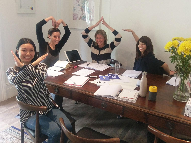 The Equilibrium team brainstorming