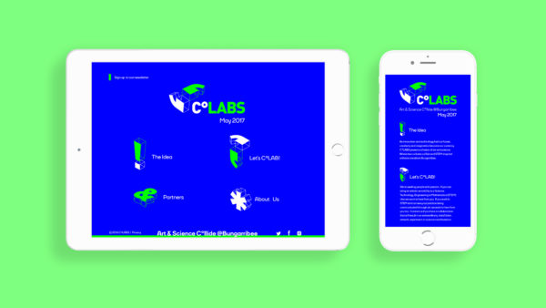 CoLABS Art & Science Responsive Microsite